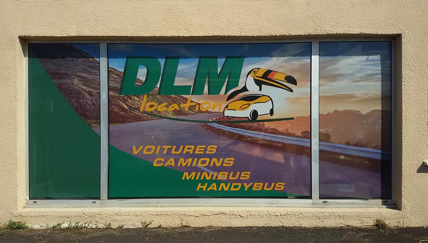 marquag vitrine dlm location montpellier