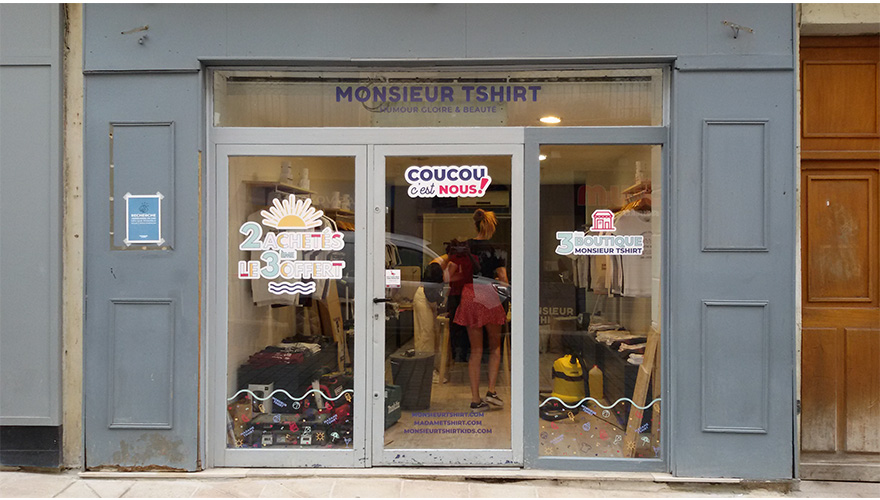 DECORATION VITRINE MONSIEUR TSHIRT MONTPELLIER