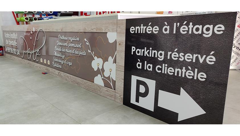PANNEAU DIRECTIONNEL PERLE CASTELNAU LE LEZ