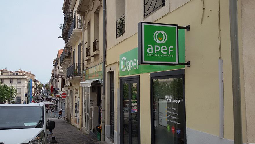 enseigne drapeau APEF Sète