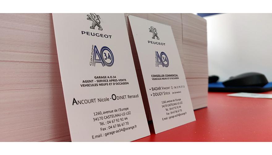 Peugeot carte de visite