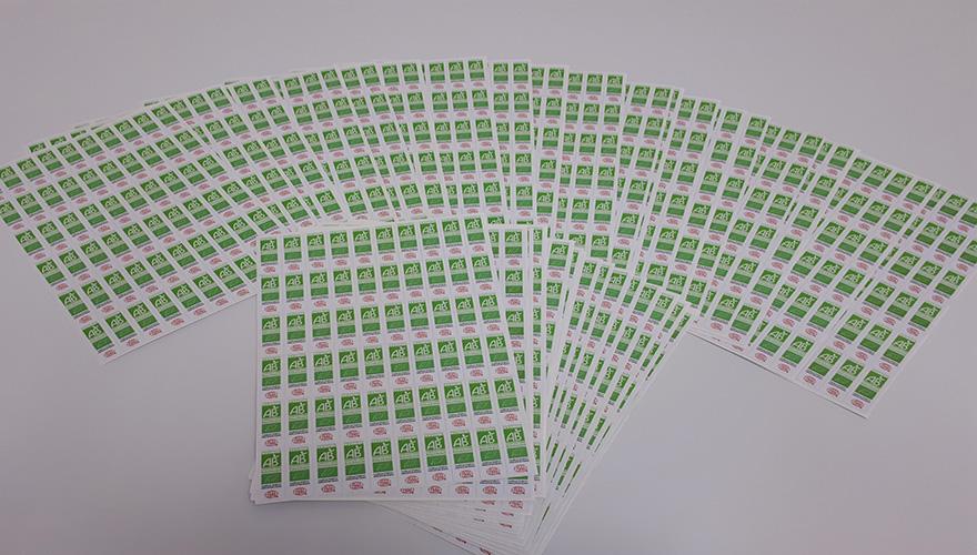 stickers impression numérique lamination mat