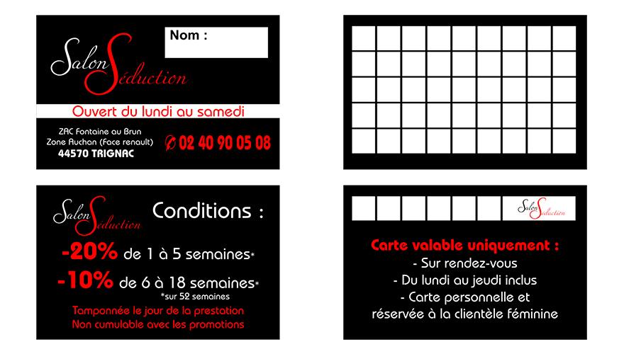 Carte Fidlit 2 Volets Recto Verso