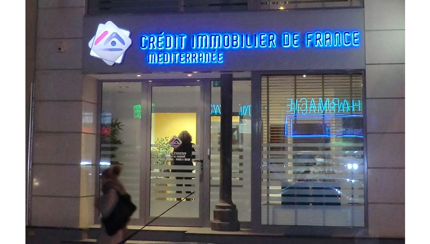 Lettres relief 3D lumineuses rétroéclairées LED bleu