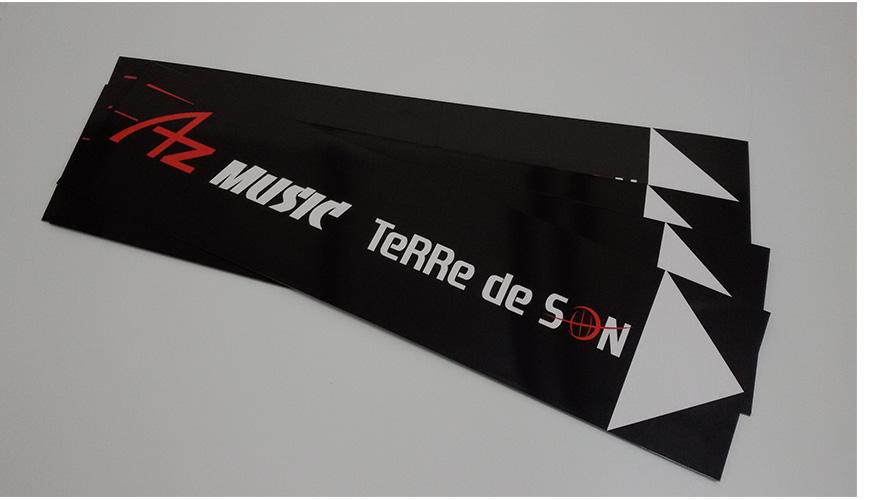 panneau directionnel az music mauguio